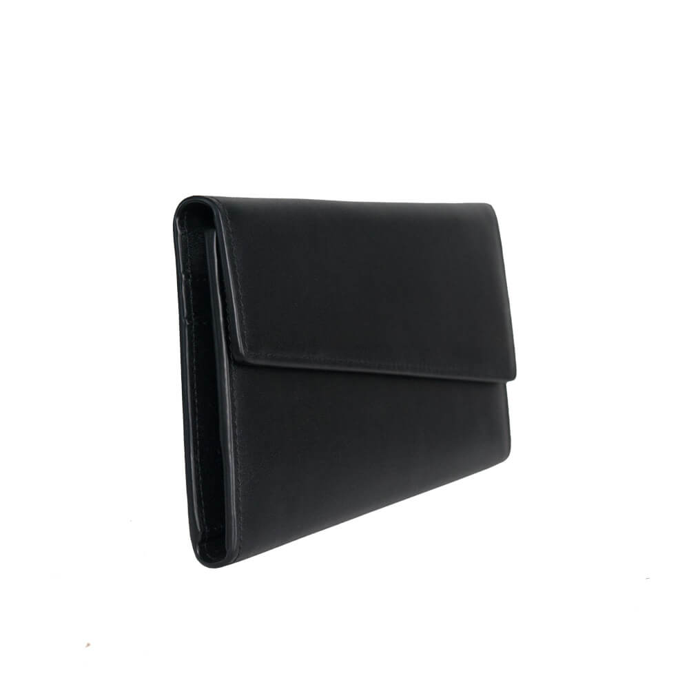 Minimal Modern Unique Black Leather Wallet